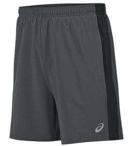 ASICS Men's 2-n-1 Woven Short 6 black running shorts
