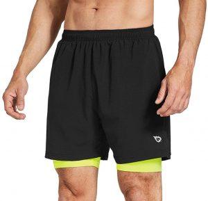 BALEAF Men's 5 Inch Running Athletic Shorts