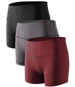 Cadmus Women's High Waist Stretch Athletic Workout Shorts