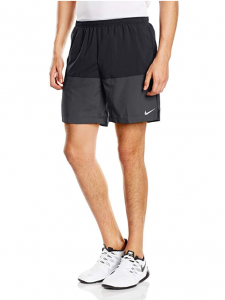 Nike Mens Nine Inch Distance Black Running Shorts