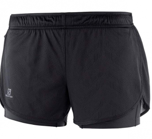Salomon Women's Agile 2in1 black running shorts