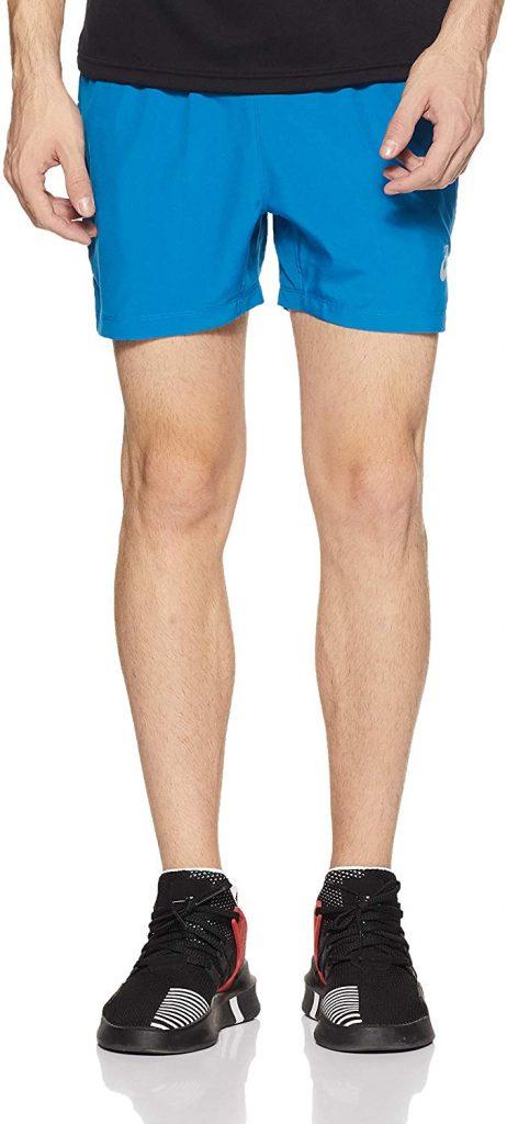 asics silver 5 inch running shorts