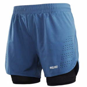 ARSUXEO Men's Active Training Running Shorts