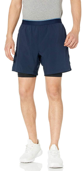 Craft Mens Charge 2-in-1 Running and Training Shorts with 6.5 Inseam