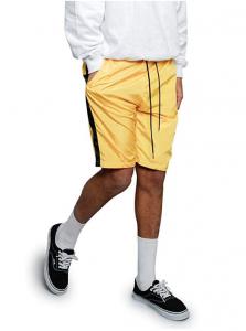 Men's Stylish Pro Striped Waistband Drawstring Athletic Track Shorts