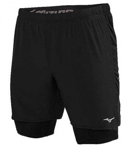 Mizuno Men's Alpha 7.5 2 In 1 Running Short