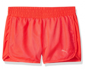 PUMA Girls' Mesh Overlay Shorts