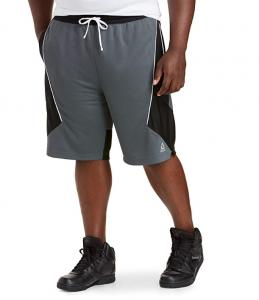 Reebok Speedwick Retro Colorblock Basketball Shorts, Grey Black
