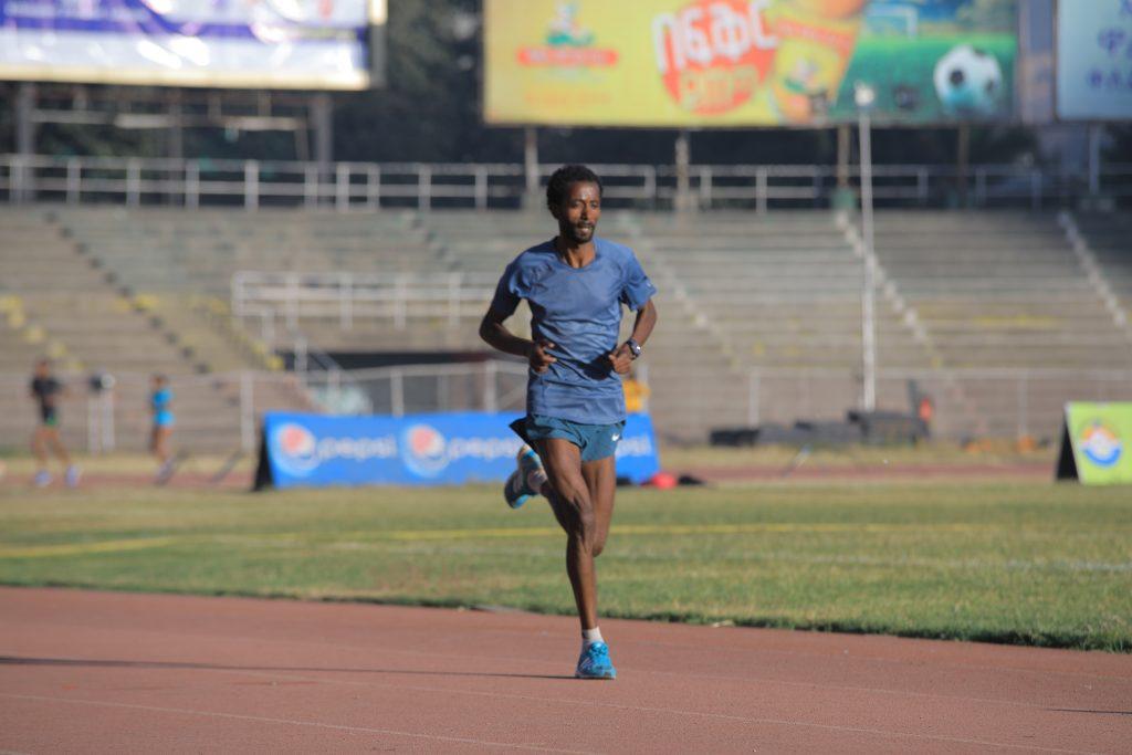 A man running on a field